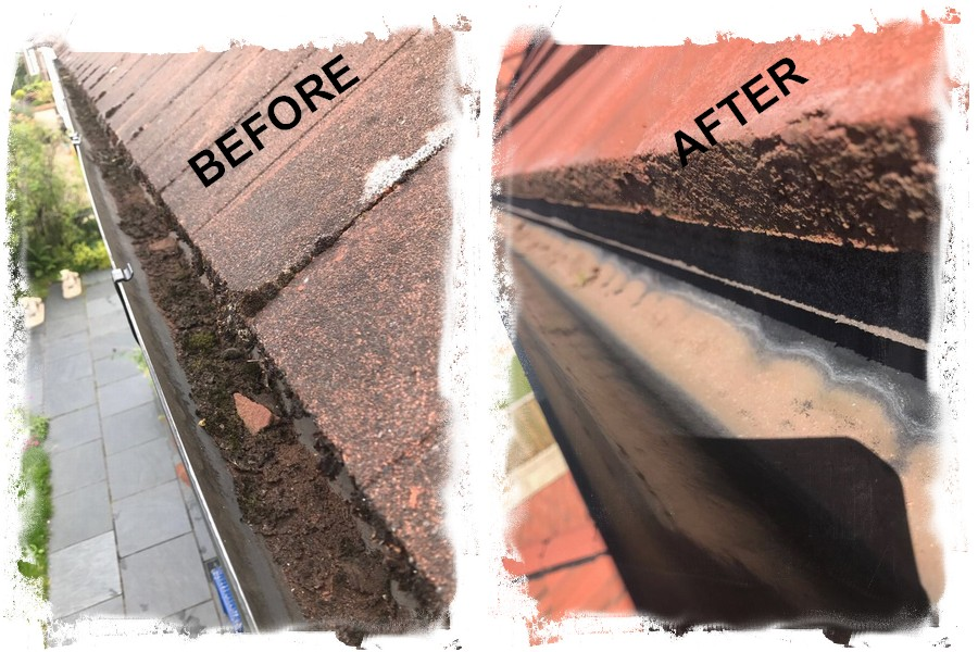 dirty and clear gutter 2